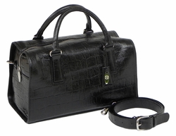 J. Lang Dr. Bag Black Leather