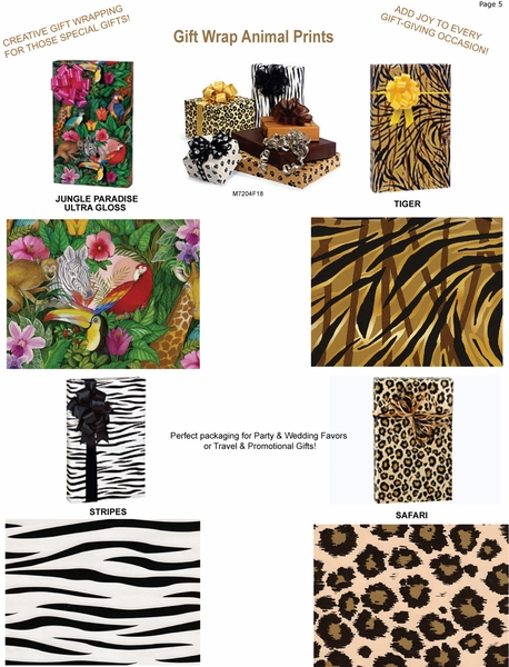 Gift Wrap Animal Prints