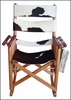 Costa Rica Rocking Chair - Low Back - Cow Hide Leather and Caobilla Wood