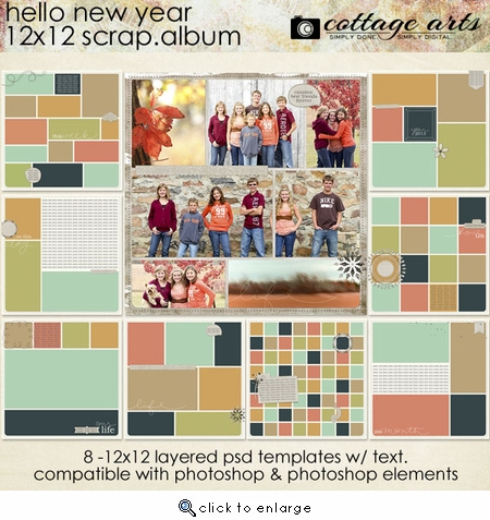 Hello New Year 12x12 Scrap.Album