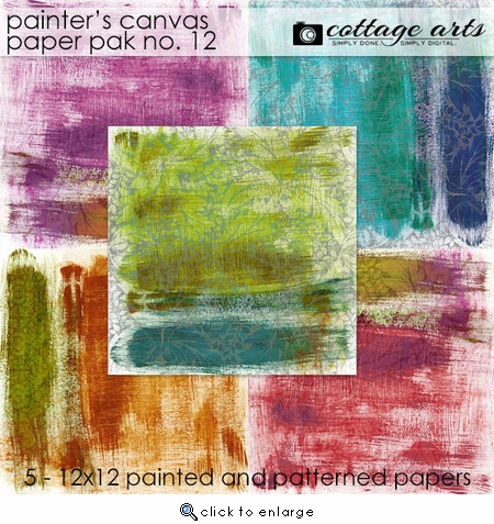 Painter's Canvas 12 Paper Pak