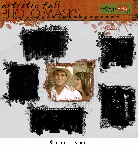 Artistic Fall Photo Masks