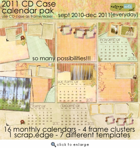 2011 CD Case Calendar Pak - Everyday