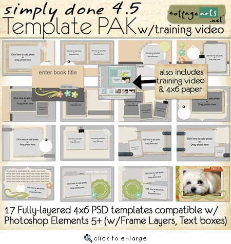 Simply Done 4.5 Template Pak & Training Video (PSE 5,6,7)