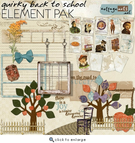 Quirky Back to School Element Pak