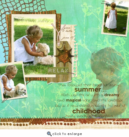 Childhood Summer ScrapOver Template w/Separate Titles