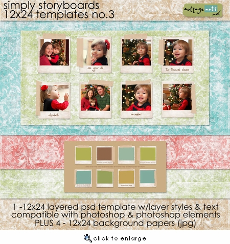 Simply Storyboards 3 - 12x24 Templates