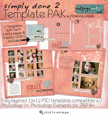Simply Done 2 Templates & Training Video (PS,PSE,PSP)