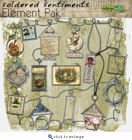 Soldered Sentiments 1  Element Pak