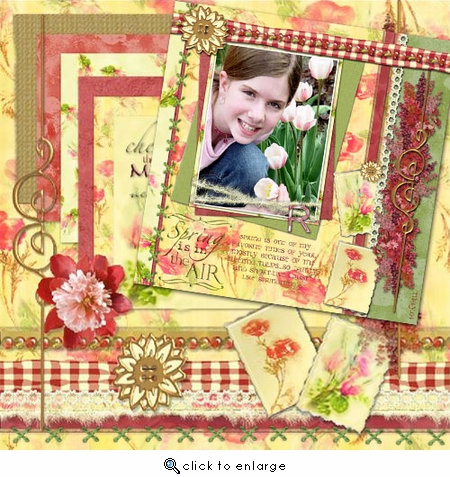 Floral Medley Page Pak