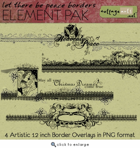 Let There Be Peace Borders Element Pak