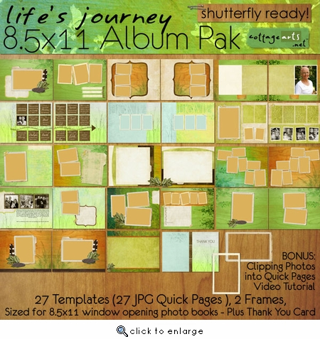 Life's Journey 8.5x11 Album Pak - Shutterfly Ready