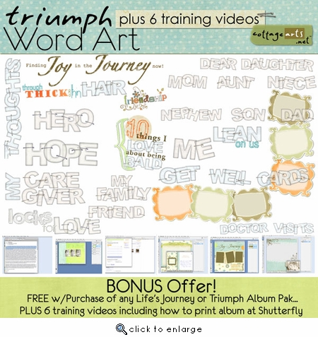 Triumph Word Art  & Digital Training Videos {FREE w/Album Purchase}