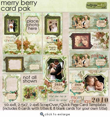 Merry Berry Holiday Cards Pak