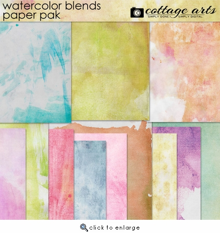 Watercolor Blends Paper Pak