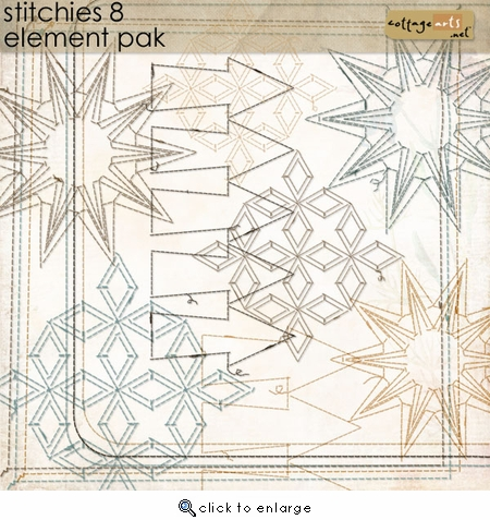 Stitchies 8 Element Pak