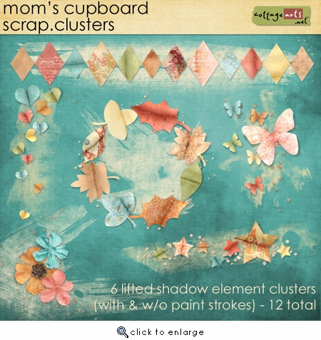 Mom's Cupboard Scrap.Clusters