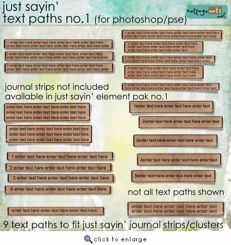 Just Sayin' 1 Text Paths