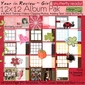 Year in Review 12x12 Album Pak - Shutterfly Ready