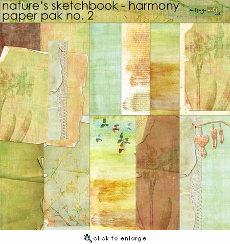 Nature's Sketchbook - Papers 2 - Harmony