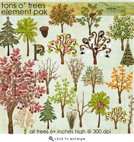 Tons O' Trees Element Pak