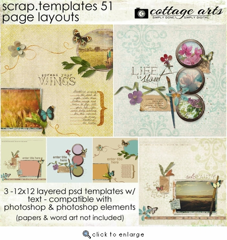 Scrap Templates 51 - Page Layouts