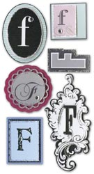 Mini Monogram, F, Embellishment scrapbook stickers (Paper Bliss)<br><font color=red>25% off</font>