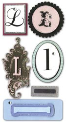 Mini Monogram, L, Embellishment scrapbook stickers (Paper Bliss)<br><font color=red>25% off</font>