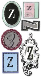 Mini Monogram, Z, Embellishment scrapbook stickers (Paper Bliss)<br><font color=red>25% off</font>