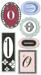 Mini Monogram, O, Embellishment scrapbook stickers (Paper Bliss)<br><font color=red>25% off</font>