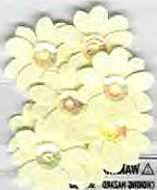 Primrose, Ivory, flowers, scrapbook embellishment (Jolee's By You) <br><font color=red>33% off</font>