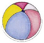 Frame-Ups 6th Edition, Die Cut: Pastel beach ball, scrapbook (My Minds Eye)<br><font color=red>Retired, very few left</font>