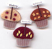Muffins, Food, scrapbook embellishments (Jolee's by You)