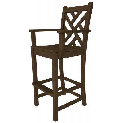 POLYWOOD® Chippendale Bar Arm Chair