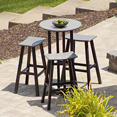 POLYWOOD® Traditional Bar Stool