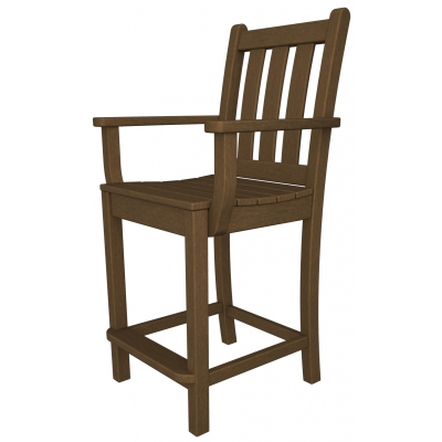 POLYWOOD® Traditional Garden Counter Arm Chair