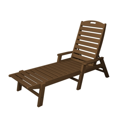 POLYWOOD® Nautical Chaise with arms