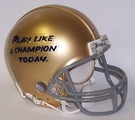 Notre Dame Fighting Irish - Play Like A Champion Today - VSR4 Riddell Mini Football Helmet
