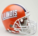 Illinois Fighting Illini Riddell Authentic NCAA Full Size On Field Proline Football Helmet