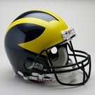 Michigan Wolverines Riddell Authentic NCAA Full Size On Field Proline Football Helmet