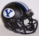 BYU Cougars Black Matte Speed Revolution Riddell Mini Football Helmet