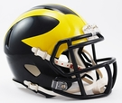 Michigan Wolverines Speed Revolution Riddell Mini Football Helmet