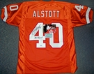Mike Alstott - Autographed Tampa Bay Bucs  Throwback, Orange Official Jersey - PSA/DNA