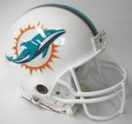 Miami Dolphins Riddell Authentic NFL Full Size On Field Proline Football Helmet