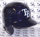 Tampa Bay Rays Rawlings CoolFlo Pro Full Size Authentic MLB Left Handed Batting Helmet - Model Number:  CFPBHSR