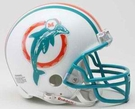 Bob Griese - Autographed Miami Dolphins Throwback Riddell Mini Football Helmet