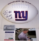 Phil Simms - Autographed New York Giants Full Size Logo Football - PSA/DNA