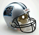 Carolina Panthers Autographed Full Size Riddell Deluxe Replica Football Helmets