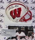 Ron Dayne - Riddell - Autographed Mini Helmet - Wisconsin Badgers