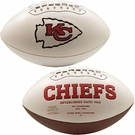 Joe Montana - Autographed Kansas City Chiefs Full Size Logo Football